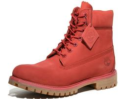 Timberland Men's 6 Inch Red Premium Leather Waterproof Boots