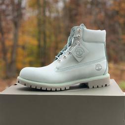 "Timberland Men's 6"" Inch Premium Light Blue Waterproof Boots"