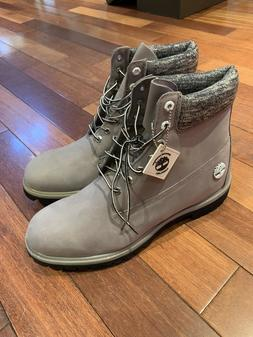 """Timberland Men's 6"""" Premium Boots Suede TB0A1IA5 GRAY SIZE 1"""