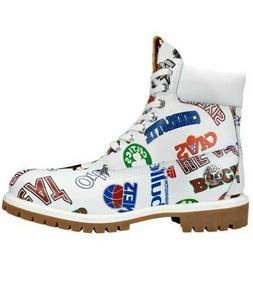 "Timberland Men's 6"" Premium NBA WP Boots NEW AUTHENTIC White"