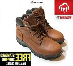 """Wolverine Men's 6"""" Steel Toe Waterproof Oil & Slip Resistant"""