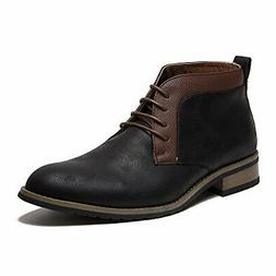 Ferro Aldo Men's 806028 Two Tone Chukka Lace Up Ankle Almond