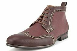 Ferro Aldo Men's 806383 Wing Tip Perforated Lace Up Ankle Bo