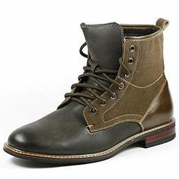 Men's Ferro Aldo 808562 Tall Gray Brown Military Combat Army