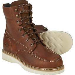 Gravel Gear Men's 8in. Moc Toe Wedge Work Boots - Brown