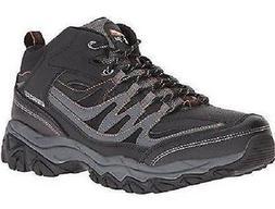 Skechers Afterburn Mid Top Men's Hiking Boots Black+Gray Mem