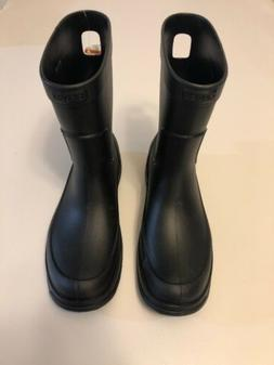 MEN'S CROCS ALLCAST RAIN BOOTS * SIZE 11 * BLACK * NEW W/ Ta