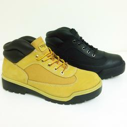 Brand New Mens Ankle Boots Leather w Nylon Fashion Comfort C