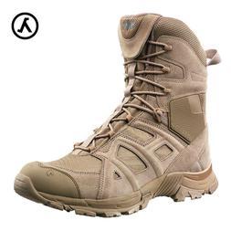 HAIX MEN'S ATHLETIC 11 HIGH SIDE ZIP DESERT BOOTS 320002 * A