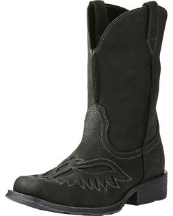 MEN'S ARIAT BLACK RAMBLER RENEGADE WESTERN BOOTS 10019877