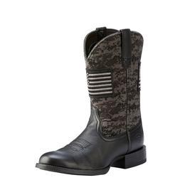 Ariat® Men's Black Sport Patriot Round Toe Boot 10023363