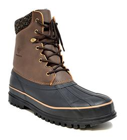 DREAM PAIRS Men's Blazzer-2 Brown Insulated Waterproof Winte