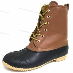 Men's Boots Leather Insulated Waterproof 5-Eyelet Snow Winte