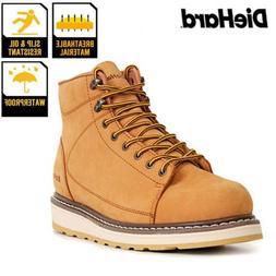 Diehard Men's Boots Wheat nubuck leather Round Soft Toe Ligh