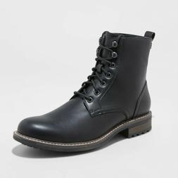 Men's Boston Casual Fashion Boots - Goodfellow & Co - Black