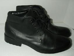 Unlisted by Kenneth Cole Men's Break Cover Black Ankle Boots