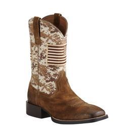 Ariat Men's  Brown Camo Sport Patriot Square Toe Boots 10019