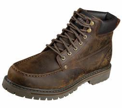 Skechers Men's Bruiser Memory Foam Work Boot 6643 Dark Brown