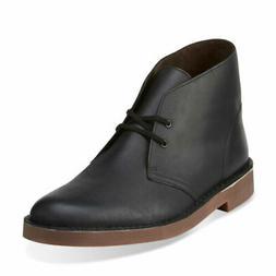 Clarks Men's Bushacre 2 Chukka Boot, Black Leather Size 9.5