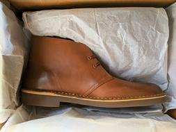 Clarks Men's Bushacre 2 Chukka Boot Size 10.5 Dark Tan Leath