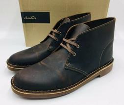 Clarks Men's Bushacre 2 Chukka Boots Size 10M Beeswax Leathe