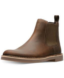 Clarks Men's Bushacre Hill Chelsea Boot Dark Brown Full Grai