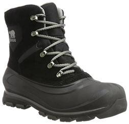 SOREL Men's Buxton LACE Snow Boot, Black, Quarry, 12 D US