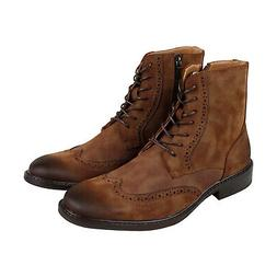 Unlisted by Kenneth Cole Men's Buzzer Oxford Boot, Tan, Size