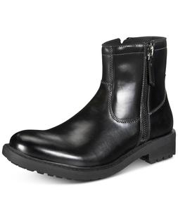 Unlisted by Kenneth Cole Men's BLACK BOOTS C-Roam Zip-Up Boo