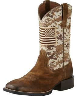 Ariat Men's Camo Patriot Western Boots Brown Size 9.5 Medium