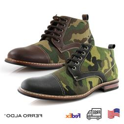 Ferro Aldo Men's Chukka Boots Camouflage Pattern Fashion Cas