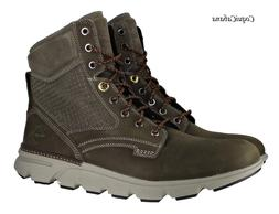 "Timberland Men's ""Eagle Bay"" Olive Green Leather Boots Multi"