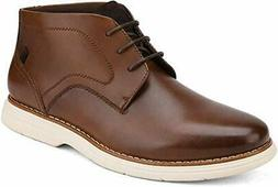 Bruno Marc Men's Casual Dress Chukka Genuine Leather Lace-Up