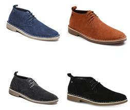 Men's Chukka Boots Suede Leather Lace-up Classic Ankle Boots