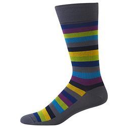 Hot Sox Men's Classic Fashion, Fun Stripe Crew , Shoe 6-12 /