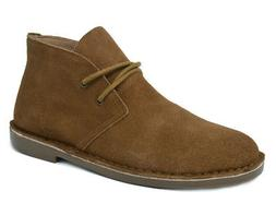 BRUNO MARC NEW YORK Mens Classic Casual Suede Desert Lace-Up