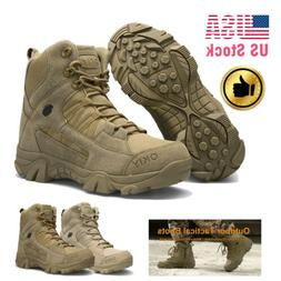 Men Outdoor Waterproof Hiking Boots Non-slip Combat Military
