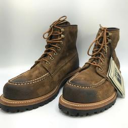 FRYE - Men's Dakota Mid Lace Work Boots Color Fatigue - Sued