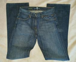 men's 7 for all mankind denim jeans. boot cut. 29.