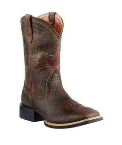 Ariat Men's Distressed Brown Sport Wide Square Toe Cowboy Bo