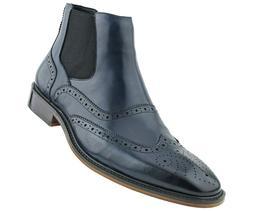Men's Dress Boots - Designer Genuine Chelsea Leather Boots f