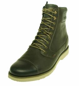 Teva Men's Durban Tall Leather Lace Up Work Boots Dark Olive