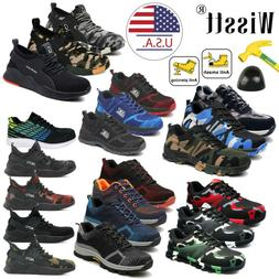 Mens Safety Lightweight Work Shoes Steel Toe Boots Outdoor H