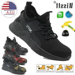 Men's ESD Safety Work Shoes Steel Toe Boots Hiking Lightweig