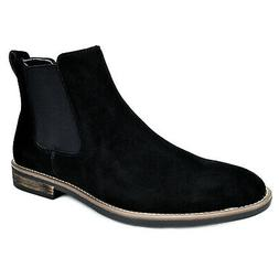 BRUNO MARC Men's Suede Leather Chukka Slip On Dress Chelsea