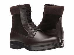 Men's Calvin Klein Gable Boot Dark Brown Leather SZ 13 MSRP