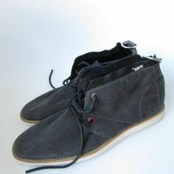 PAJAR Men's Grey Black Canvas Chukka Ankle Boots - US Size 9