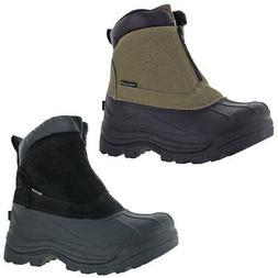Revelstoke Men's Halifax Waterproof Zipper Ankle Snow Boots