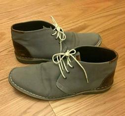Men's Steve Madden Halloway Canvas Leather Chukka Boot Grey