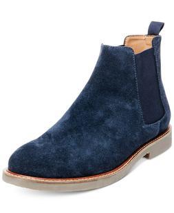 Steve Madden Men's Hyghline Suede Chelsea Boots, Navy Suede,
